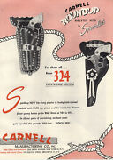 1954 Paper Ad Carnell Roundup Cowboy Toy Play Holster Sets Cap Pistols