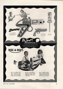 1951 Paper Ad Tigrett Toy Co Zoomeray Gun Ride A Boat Jeep South Bend Doll Buggy
