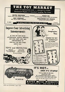 1949 Paper Ad Lupor Metal Toy Hot Rod Race Race Lithograph Comet Toy Soldiers