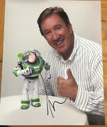 Tim Allen Signed Autograph Classic Pose Toy Story Buzz 8x10 Photo With Coa