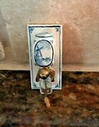 Vintage Miniature Doll House Blue Delft Kitchen Small Coffee Grinder