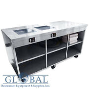 Stainless Steel Mobile Table With Double Induction Range By Magnawave