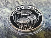 Blue Gill North American Fishing Club Grand Slam Silver Plate Collector Coin