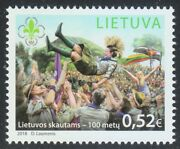 Lithuania 2018 Mnh Stamp 100th Anniversary Of Lithuanian Scouts. Boy Scouts