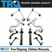 Trq 10pc Steering And Suspension Kit Control Arms Tie Rods Sway Bar Links Struts