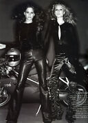 F/w 1999 Vintage Tom Ford For Black Flared Pintuck Leather Pants 42 - 6