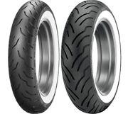 Dunlop Elite White Wall Mt90b16 Front/rear Tire Set Harley Touring Softail
