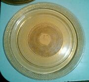Twelve 12 1/4 Inch Indiana Amber Glass Plates Polka Dots Find Others