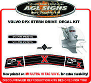 Volvo Penta Dp X Stern Drive Replacement Decal Kit Dpx Dual Prop