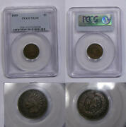 1869 Indian Cent Key Date Pcgs Vg10 Looks Better Inv340b-10