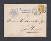France 1884 Royal Netherlands Consul Dunkerque Cover To The Hague Holland