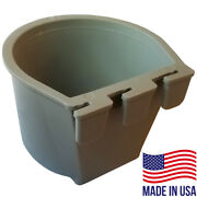 Bulk Cage Cups 1 Case / 714pcs Gray 1 Cup 8 Fl Oz Hanging Feed And Water Cage Cups