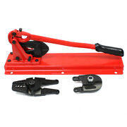 24 Bench Type Swaging Tool Set W/ Crimper Cable Bolt Cutter Head