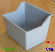 Bulk Cage Cups Large 100 Pcs Gray 3 Quart Hanging Water Feed Cage Cups Poultry