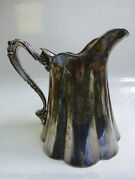 Antique E. G Webster And Son Raised Relief Cold Water / Milk Pitcher