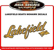 Lakefield Boats Mohawk Reproduction Decals One Pair