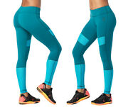 Strong By Zumba Squat Sync Sweat Ankle Leggings - Deep Emerald Medium Large Xl