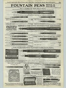 1923 Paper Ad Waterman And Co Parker Lucky Curve Fountain Pens Duofold Peter Pan