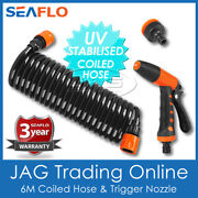 Seaflo Hosecoil Deck Wash Coiled Hose Spray Nozzle And Adaptor - Boat/marine/coil