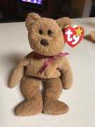 Ty Beanie Babies Bear Curly With Very Rare Unusual Errors On Tag