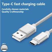 Wholesale 30 X Nylon Braided Usb-c Fast Charge And Data Sync Cables 1m
