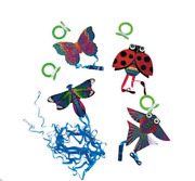 Zeekites Mini Kite With Tail Ribbons Ready To Fly Assorted Lots Available