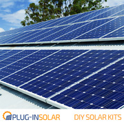 Plug-in Solar Power Diy Kit With With Mounts For Wooden Or Metal Sheet Roofs