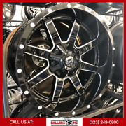 20x10 Fuel Maverick Gloss Black And Milled Finish On 33/12.50r20 M/t Offroad