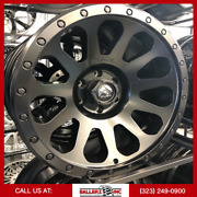 20x10 Fuel Vector Satin Black Finish On 33/12.50r20 M/t Offroad