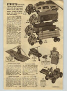 1955 Paper Ad Structo Timber Toter Ride Jet Robert Robot Train Marx Electric