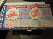 1948 Paper Ad 5 Pg Foldout Brochure Bradford Toy Hand Power Sewing Machine Iron