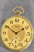 Rare Floral Decorated 18k Gold Pocket Watch