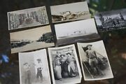 6 Real Photo Post Cards, Western Guns, Mock, Military, Airplanes, Fabens, Texas