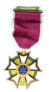 Usa Legion Of Merit Legionnaire Very Old Issue With Wrap-around Broach