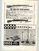 1958 Paper Ad Model Weapons Toys Springfield And03903 Rifle Garand M-1 Gun Replicas
