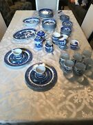 Blue Willow Japan Dishes Antiques Cups Plates Bowls Gravy Bowl China