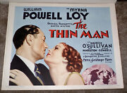 The Thin Man Original Mgm 22x28 Rolled Movie Poster William Powell/myrna Loy