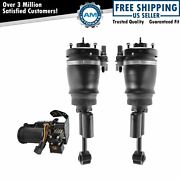3 Piece Air Suspension Kit Front Air Shock Assemblies W/ Compressor For Ford New