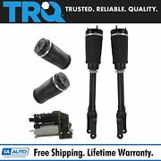 Trq 5 Piece Air Suspension Kit Front Shock Assemblies W/ Rear Springs For Mb New