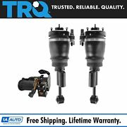 Trq 3 Piece Air Suspension Kit Front Air Shock Assemblies W/ Compressor For Ford