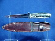 Vintage Case Tested Xx Fixed Blade Bowie Knife And Sheath - Circa 1920-1940