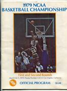 Ncaa Basketball Championship 1st And 2nd Rounds Program March 1979