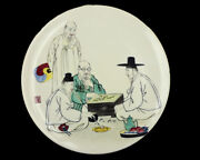 Vintage Hand Painted Porcelain Daehan China Co Of Korea Charger Wall Decoration