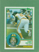 Huge Printing Error 1983 Topps Tony Gwynn 482 Hof Rookie Card Missing Red Ink