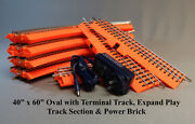 Lionel Orange Fastrack 40x60 Oval Lionchief Terminal Pep And Power Br Halloween