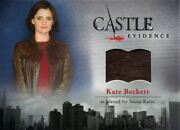 Castle Seasons 1 And 2 Wardrobe Card M24 Kate Beckett's Brown Leather Jacket