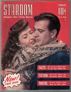 Stardom 1 2/1942-triangle-1st Issue-hedy Lamar-jean Harlow-ginger Rogers-vf
