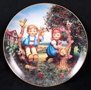 Beautiful Hummel Plate 1992 Apple Tree Boy And Girl From The Danbury Mint