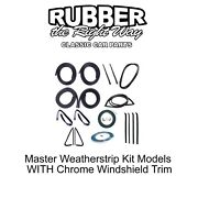 1973 - 1977 Chevy And Gmc Truck Master Weatherstrip Kit - With Windshield Trim