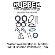 1978 - 1980 Chevy And Gmc Truck Master Weatherstrip Kit - With Windshield Trim